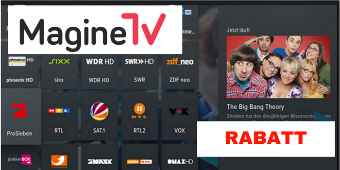 Magine TV Rabatt, Gutschein, Aktion, Zattoo Alternative