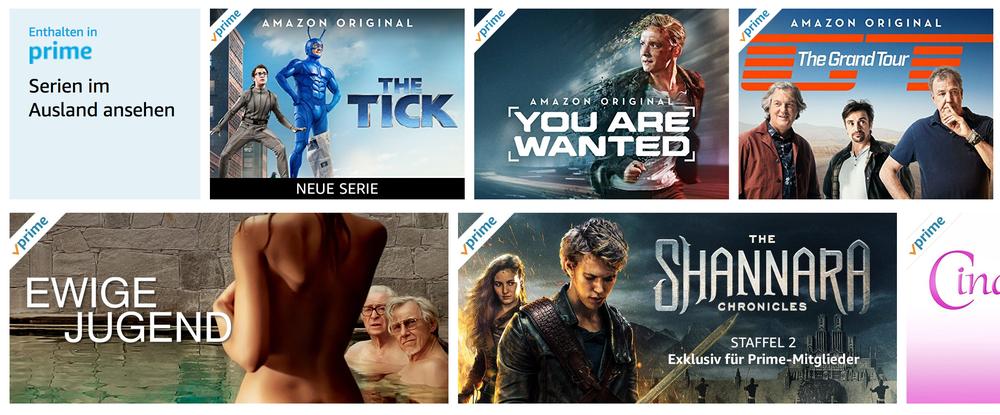 Amazon Prime USA Videos in Deutschland nutzen und schauen
