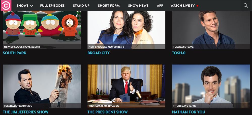 Comedy Central USA in Deutschland, Österreich, Schweiz schauen