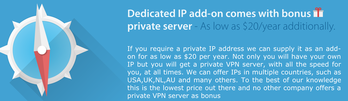 VPNArea private Server und IP
