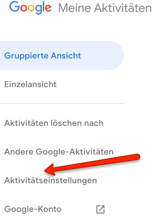 Chrome Aktivitäten löschen
