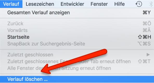 Safari Browserverlauf löschen