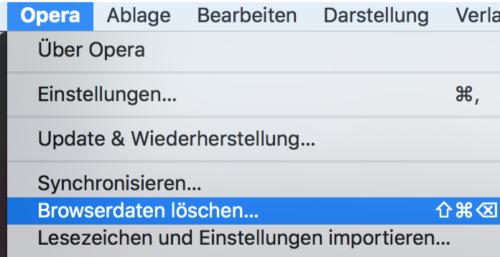 Opera Browserverlauf löschen